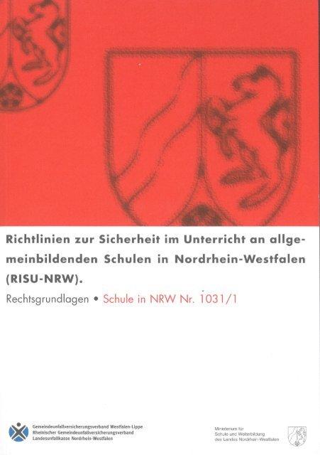 Richtlinien zur Sicherheit im Unterricht an ... - Unfallkasse NRW