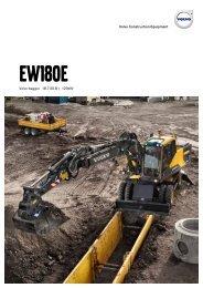 Volvo Mobilbagger EW180E - Datenblatt / Produktbeschreibung