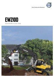 Volvo Mobilbagger EW210D - Datenblatt / Produktbeschreibung