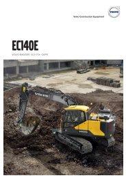 Volvo Kettenbagger EC140E - Datenblatt / Produktbeschreibung