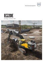 Volvo Kettenbagger EC220E - Datenblatt / Produktbeschreibung