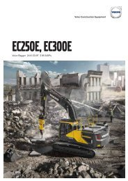 Volvo Kettenbagger EC250E-EC300E - Datenblatt / Produktbeschreibung