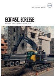 Volvo Kettenbagger ECR145E-ECR235E - Datenblatt / Produktbeschreibung