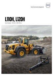 Volvo Radlader L110H-L120H - Datenblatt / Produktbeschreibung