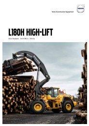 Volvo Radlader L180HHL - Datenblatt / Produktbeschreibung
