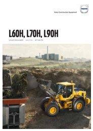Volvo Radlader L60H-L70H-L90H - Datenblatt / Produktbeschreibung