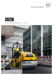 Volvo Asphaltwalze DD25B - Datenblatt / Produktbeschreibung