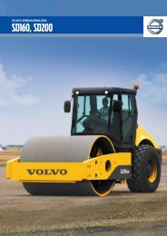 Volvo Erdbauwalze SD160-SD200 - Datenblatt / Produktbeschreibung