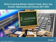 Africa E-Learning Market Size, Analysis, Segmentation, Trends And Forecast 2017-2022