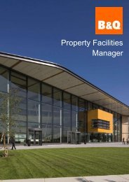 Candidate Pack - B&Q Facilities Manager