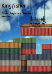 Candidate Pack - Kingfisher Group Logistics Director