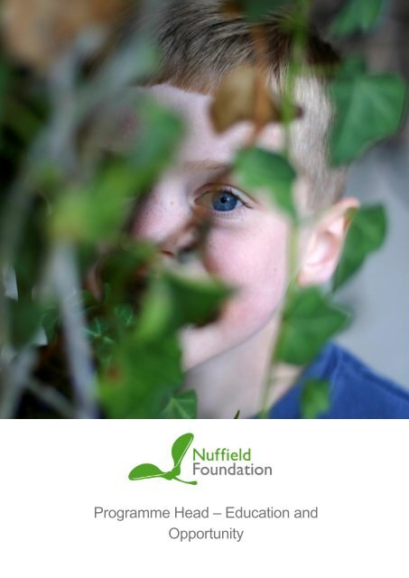 Candidate Pack - Nuffield Education and Opportunity
