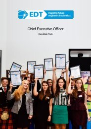 Candidate Pack - EDT Chief Executive