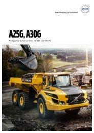 Volvo Dumper A25G-A30G - Datenblatt / Produktbeschreibung