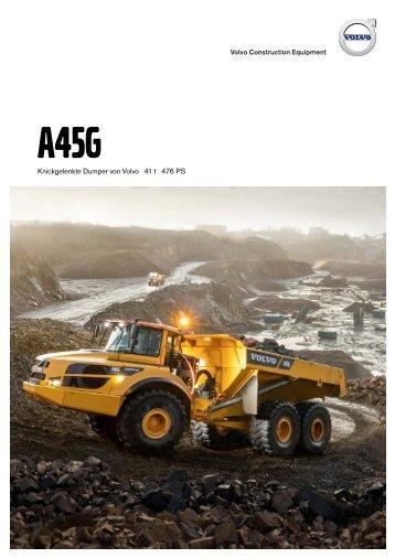 Volvo Dumper A45G - Datenblatt / Produktbeschreibung