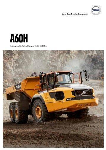 Volvo Dumper A60H - Datenblatt / Produktbeschreibung