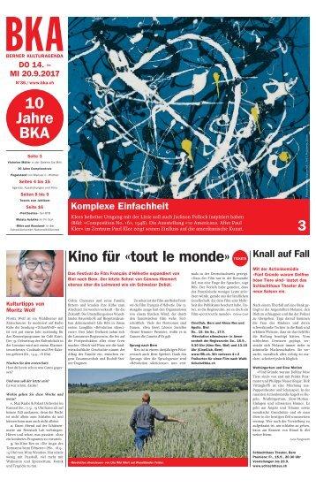 Berner Kulturagenda 2017 N° 36
