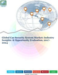 Global Car Security System Market (2016-2024)- Research Nester