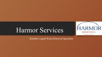 Professional Septic Tank Cleaners in Melbourne - Harmor Services