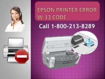 Epson Printer Error W-13 Code