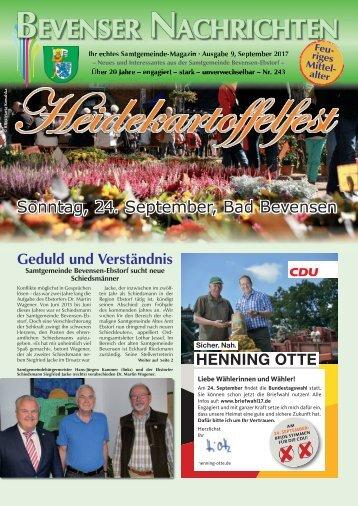 Bevenser Nachrichten September 2017