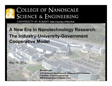 A New Era in Nanotechnology Research: The Industry-University ...
