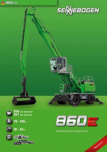 SENNEBOGEN Umschlagbagger SB860 - Datenblatt / Produktbeschreibung