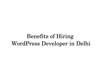 Wordpress Website in Delhi