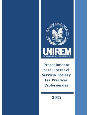 UNIREM-CEE-PRO-01 (SERVICIO SOCIAL Y PRÁCTICAS PROFESIONALES)
