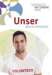 Jahresbericht 2015-2016 Schwules Netzwerk NRW