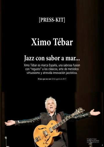 "Press-Kit Ximo Tebar ""Soleo"" 2016-2017"