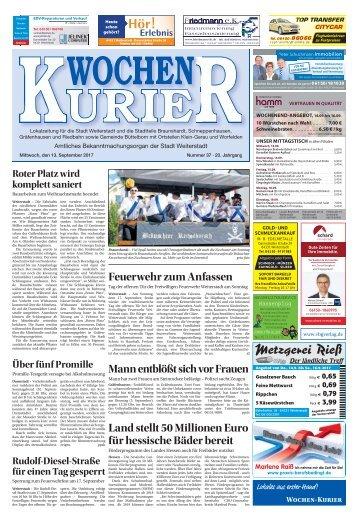 Wochen-Kurier 37/2017 - Lokalzeitung für Weiterstadt und Büttelborn