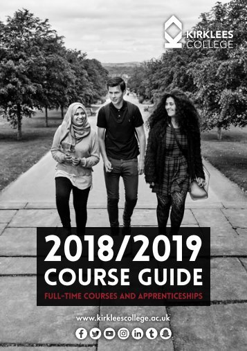 Course Guide 2018-19 Full-time Courses and Apprenticeships