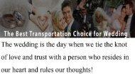 The Best Transportation Choice for Wedding Atlanta
