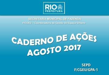 Caderno de Ações -  de Agosto 2017