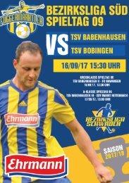 20170916 Fuggermärktler TSV 1862 Babenhausen - TSV Bobingen