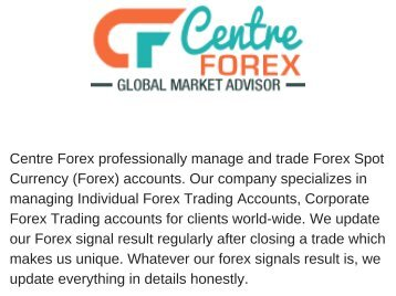 Most Reliable forex Signal Provider.