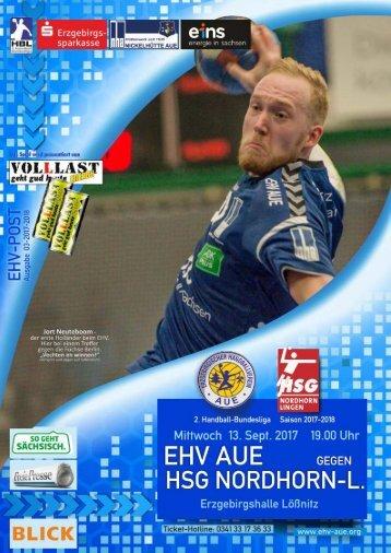 EHV POST: EHV Aue gegen HSG Nordhorn-Lingen