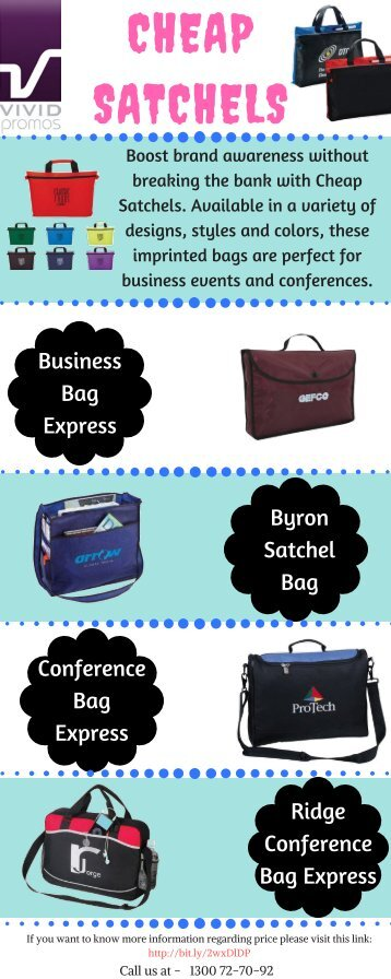 Infographic of Custom Printed Cheap Satchels