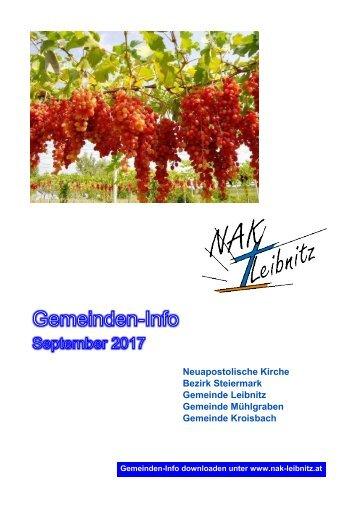 Gemeindeinfo September 2017