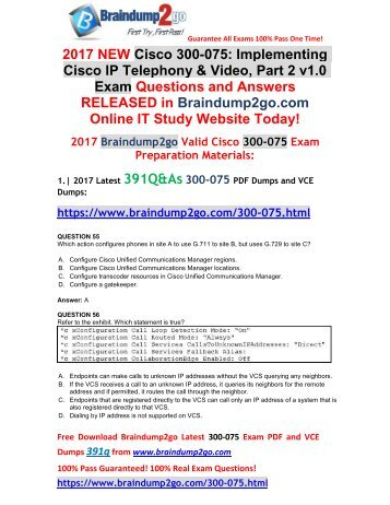 [Full Version!]New 300-075 VCE and 300-075 PDF Dumps 391Q&As Free Share(55-66)