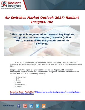 Global Air Switches Industry 2017 Market Research Report