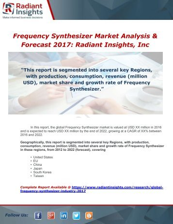 Global Frequency Synthesizer Industry 2017 Market Research Report