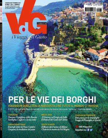 Vdg Magazine i Viaggi del Gusto Agosto Settembre 2017