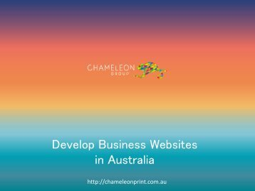 Develop Business Websites in Australia