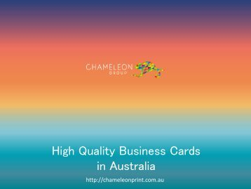 High Quality Business Cards in Australia