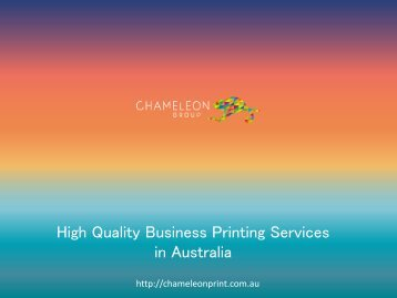 High Quality Business Printing Services in Australia