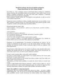 Metodiskie ieteikumi vides interešu izglītības pedagogiem