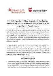 Ausschreibung NewYork Stipendium 2019 für Bildende Künstler