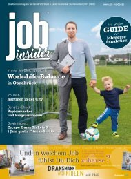 jobinsider No. 2 -- Das Karrieremagazin für Osnabrück Stadt & Land